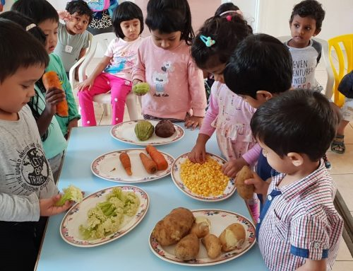 Vegetable Tasting for our Nursery Students.