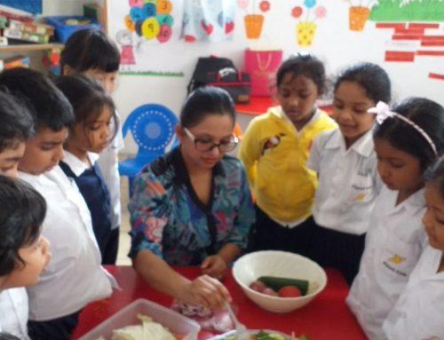 Mini Kindergarten Chefs: Fruits and Vegetable Salad